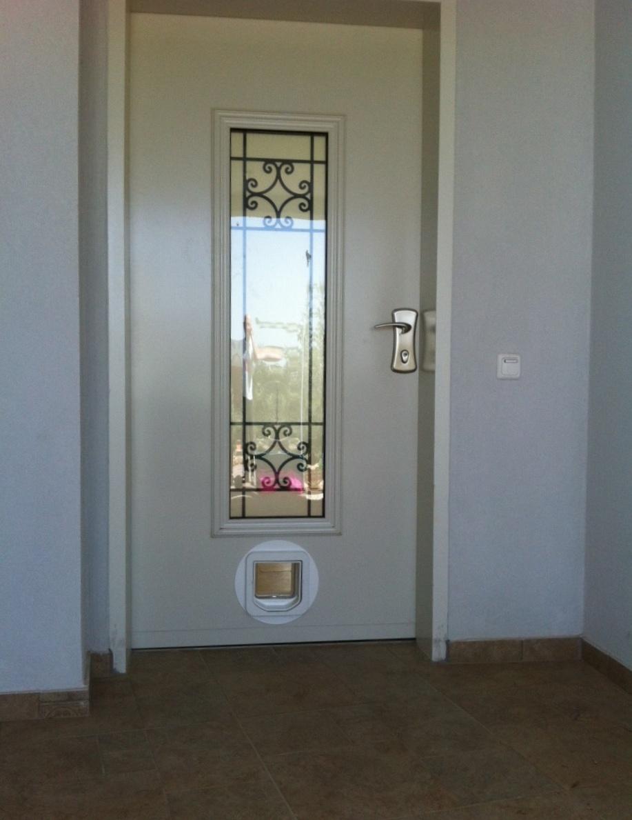 מתוחכם דלת חתולים - התקנת דלת לחתול בית בדלת פלדלת KQ-67